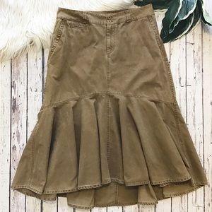 SUNDANCE Cotton Ruffle maxi skirt women's size 14